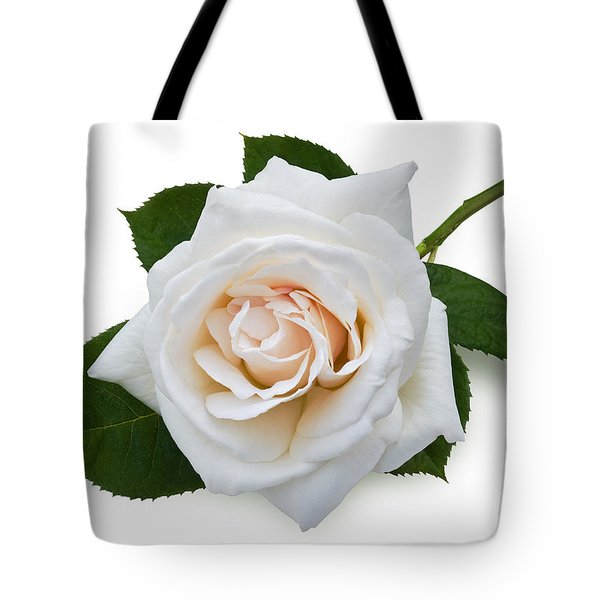 White Rose Tote Bag by Jane McIlroy