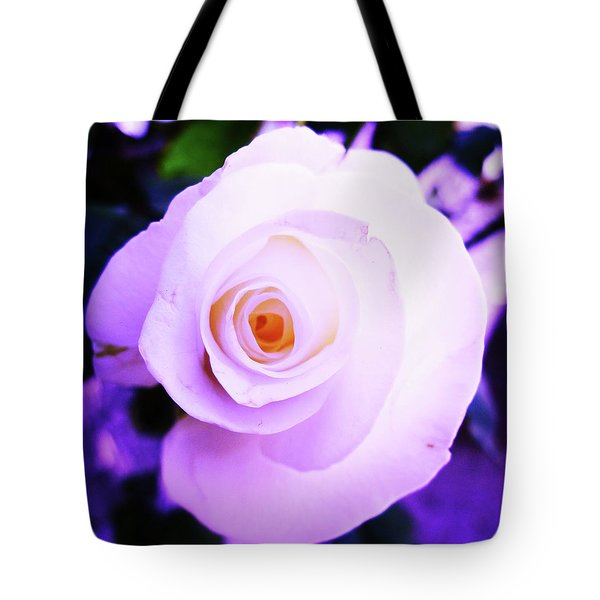 Tote Bag featuring the photograph White Rose by Mary Ellen Frazee