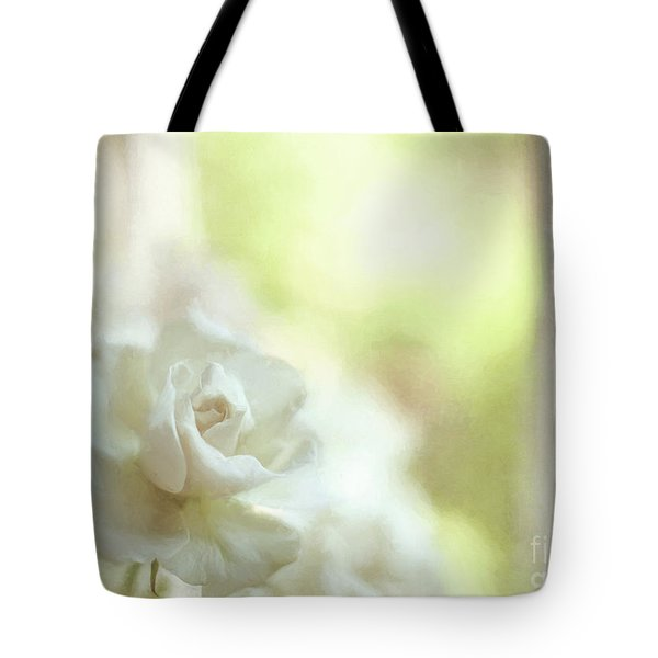 White Rose Tote Bag