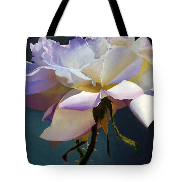 White Rose Of Eden Tote Bag