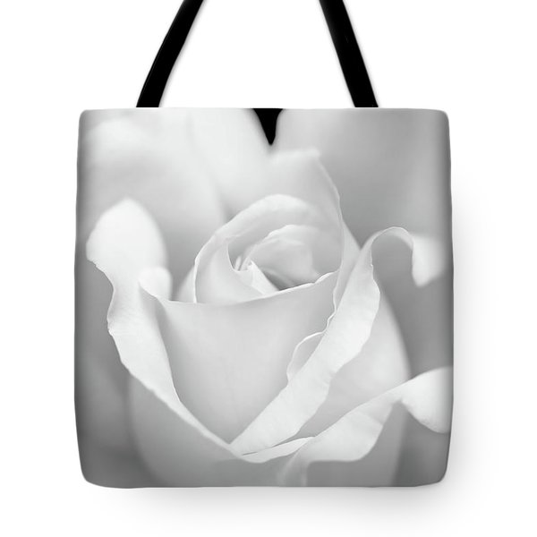 Tote Bag featuring the photograph White Rose Purity by Jennie Marie Schell