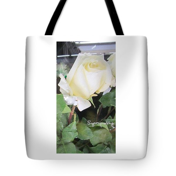 White Rose - Sympathy Card Tote Bag