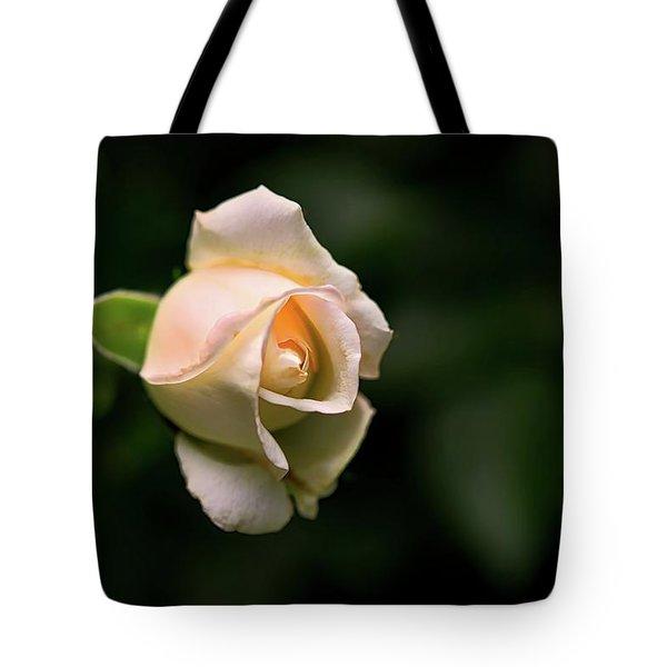 White Rosebud Tote Bag