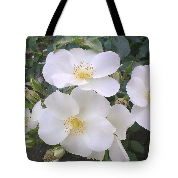 White Roses Bloom Tote Bag