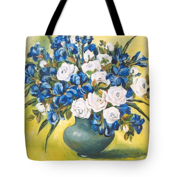 White Roses Tote Bag by Alexandra Maria Ethlyn Cheshire