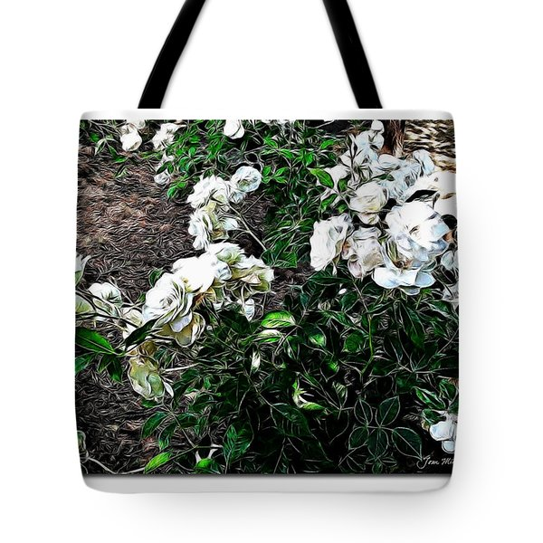 Tote Bag featuring the photograph White Roses by Joan  Minchak