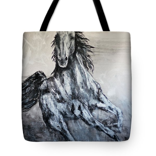 White Runner Tote Bag by Jennifer Godshalk