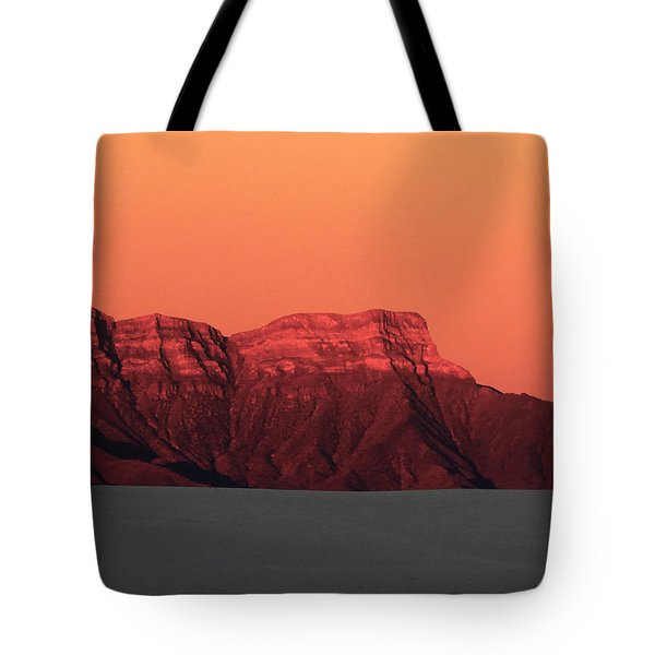 White Sands Dawn #1 Tote Bag by Cindy McIntyre