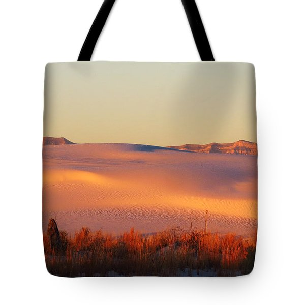 White Sands Dawn #24 Tote Bag by Cindy McIntyre