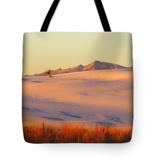 White Sands Dawn #27 Tote Bag by Cindy McIntyre