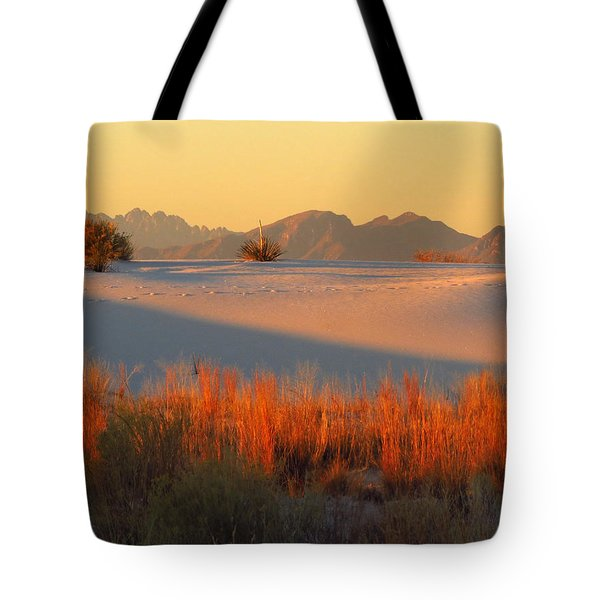 White Sands Dawn #28 Tote Bag by Cindy McIntyre
