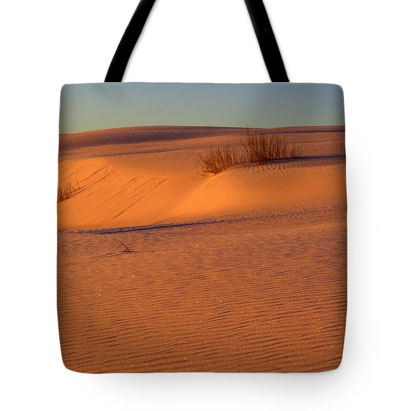 White Sands Dawn #30 Tote Bag by Cindy McIntyre