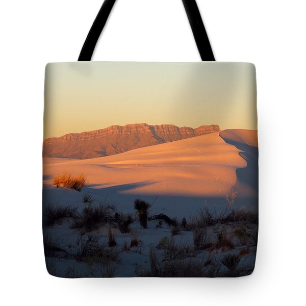 White Sands Dawn #32 Tote Bag by Cindy McIntyre