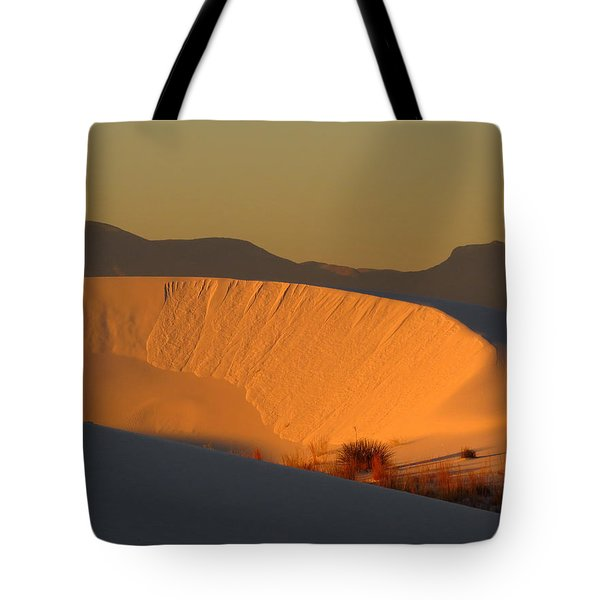 White Sands Dawn #35 Tote Bag by Cindy McIntyre