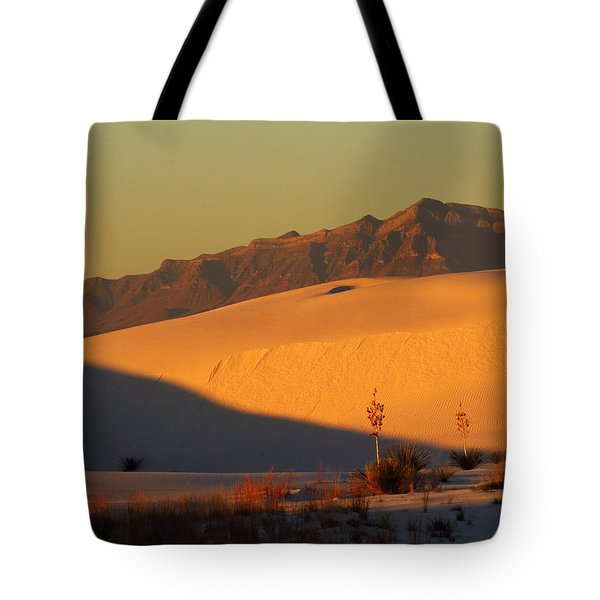 White Sands Dawn #37 Tote Bag by Cindy McIntyre