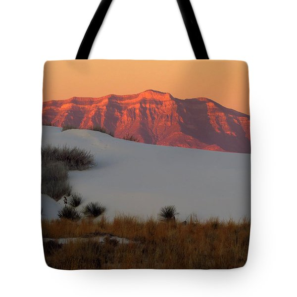 White Sands Dawn #4 Tote Bag by Cindy McIntyre