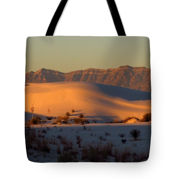 White Sands Dawn #40 Tote Bag by Cindy McIntyre