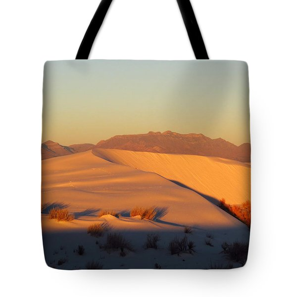 White Sands Dawn #51 Tote Bag by Cindy McIntyre