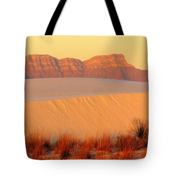 White Sands Dawn #8 Tote Bag by Cindy McIntyre