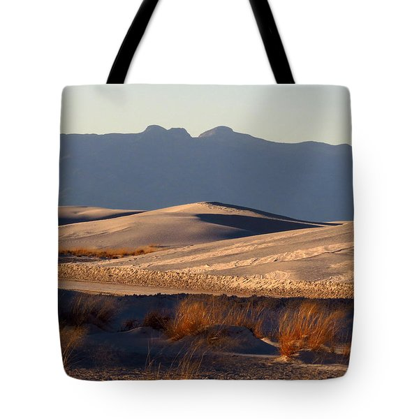 White Sands Evening #13 Tote Bag by Cindy McIntyre