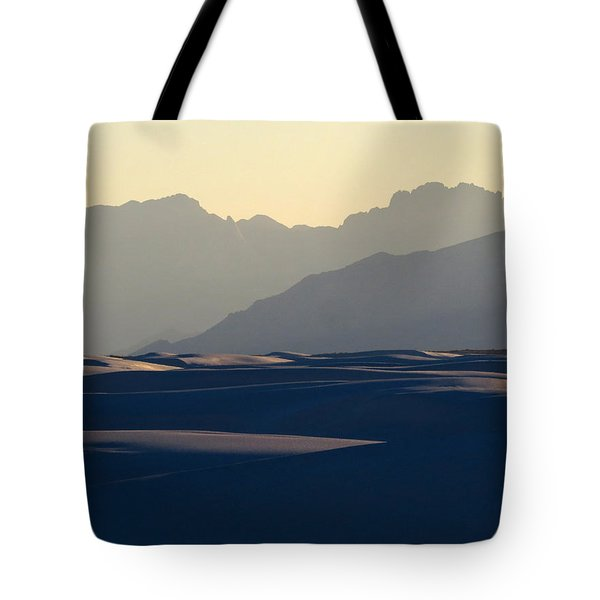 White Sands Evening #30 Tote Bag by Cindy McIntyre