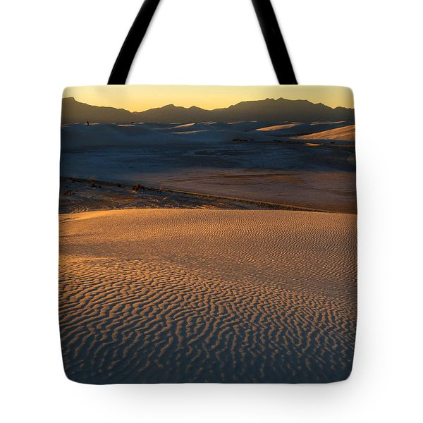 White Sands Evening #35 Tote Bag by Cindy McIntyre