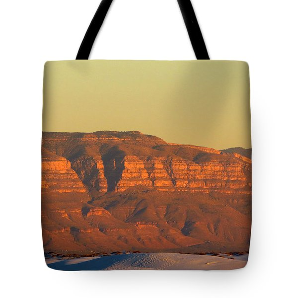 White Sands Evening #37 Tote Bag by Cindy McIntyre