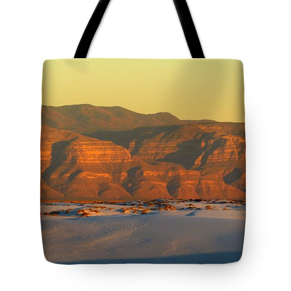 White Sands Evening #39 Tote Bag by Cindy McIntyre