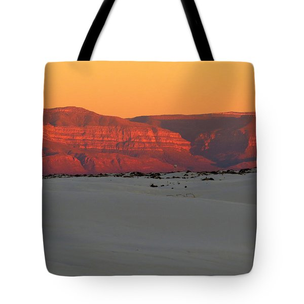 White Sands Evening #40 Tote Bag by Cindy McIntyre