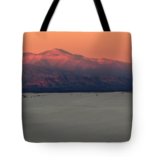 White Sands Evening #48 Tote Bag by Cindy McIntyre