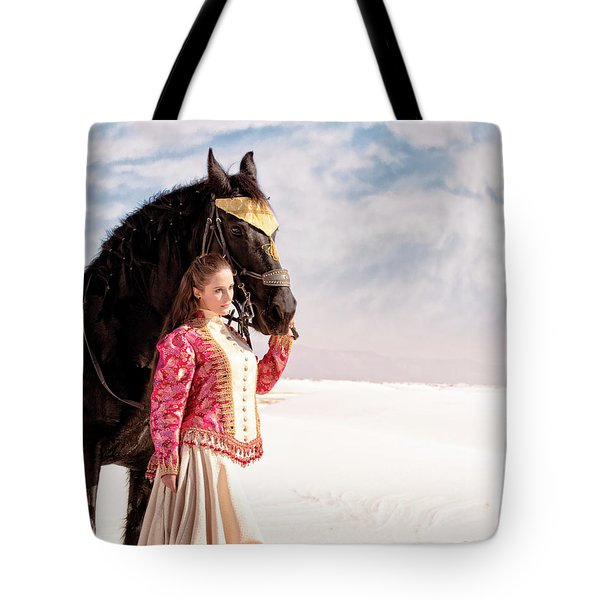 White Sands Horse And Rider #2a Tote Bag