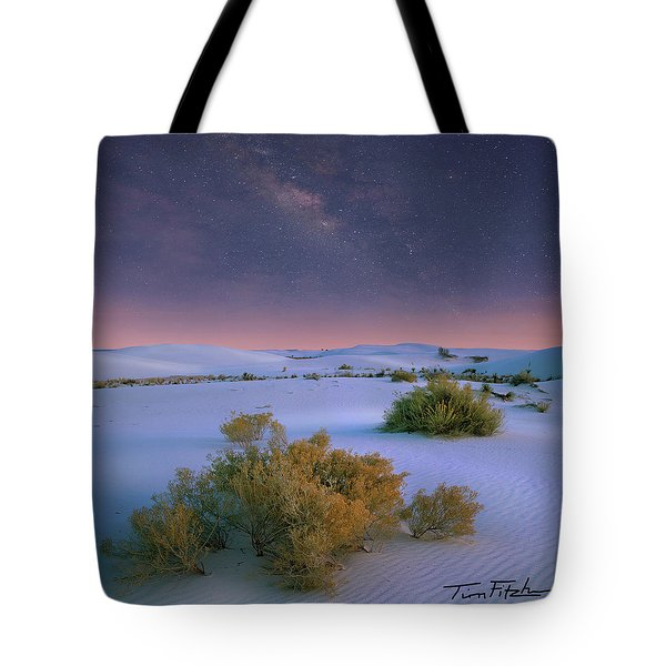 White Sands Starry Night Tote Bag
