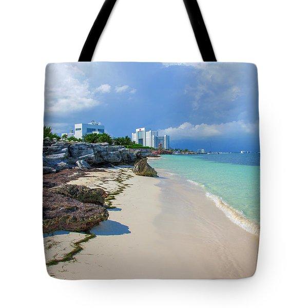 White Sandy Beach Of Cancun Tote Bag