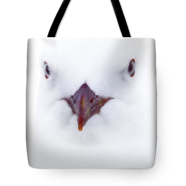 Tote Bag featuring the photograph White Seagull 01 by Kevin Chippindall