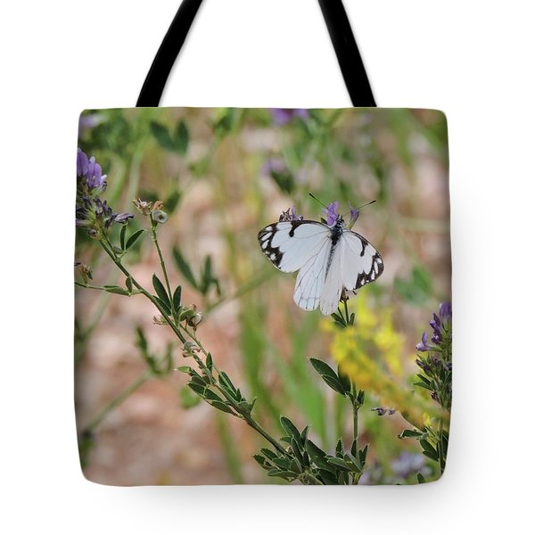 White-skipper On Lupine Tote Bag