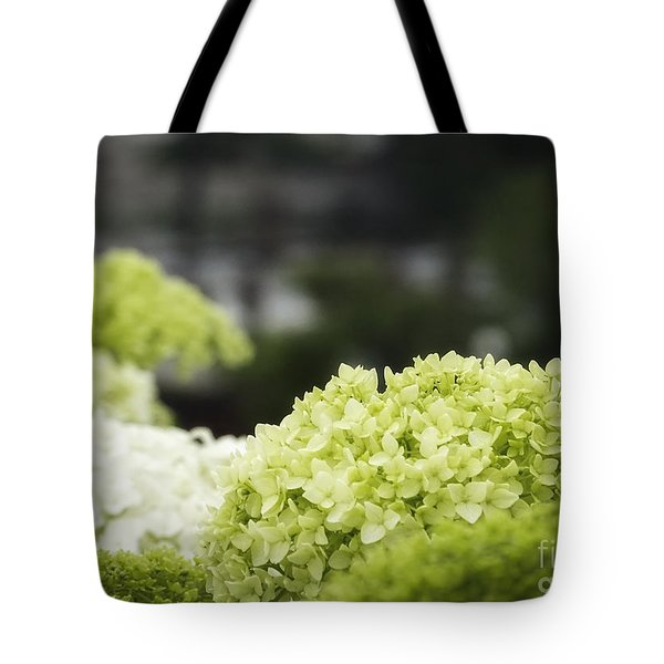 Tote Bag featuring the photograph White Snowball Bush  by Melissa Messick