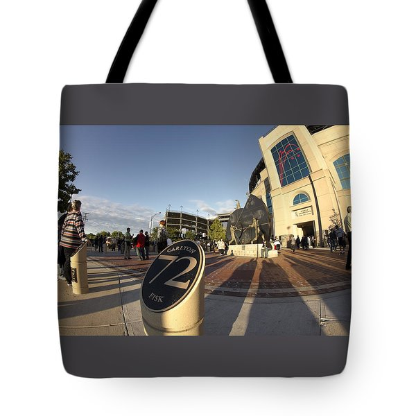 White Sox Fans Before A Game Tote Bag by Sven Brogren