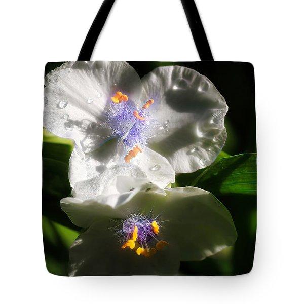 White Spiderwort Tote Bag