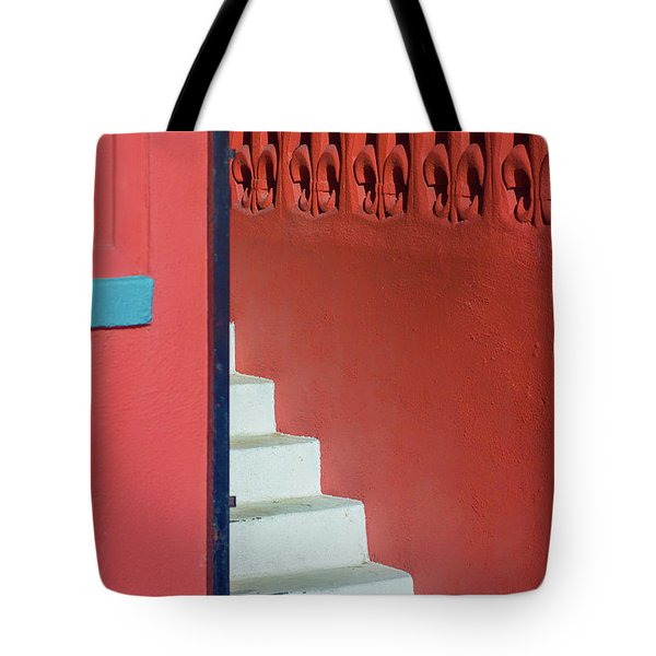 White Staircase Venice Beach California Tote Bag