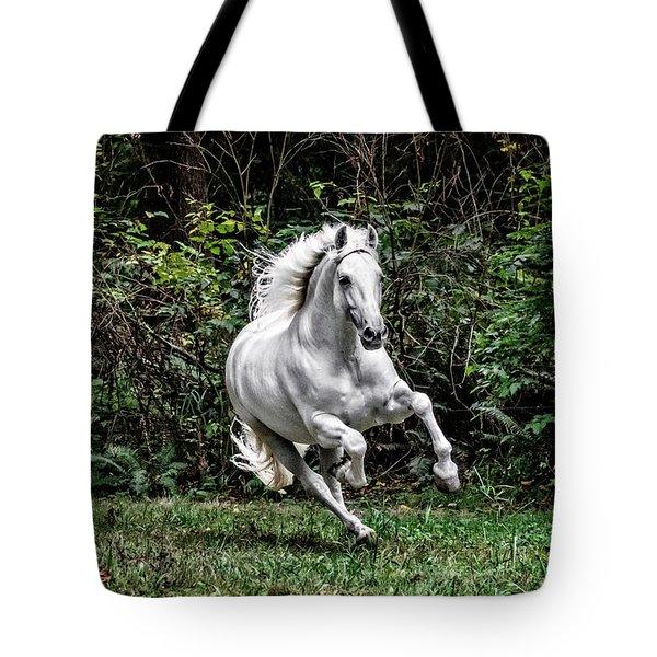 White Stallion Tote Bag