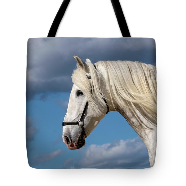 White Stallion Tote Bag