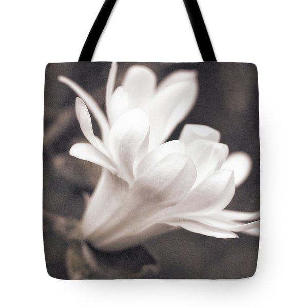Tote Bag featuring the photograph  White Star Magnolia Blossom by Jennie Marie Schell