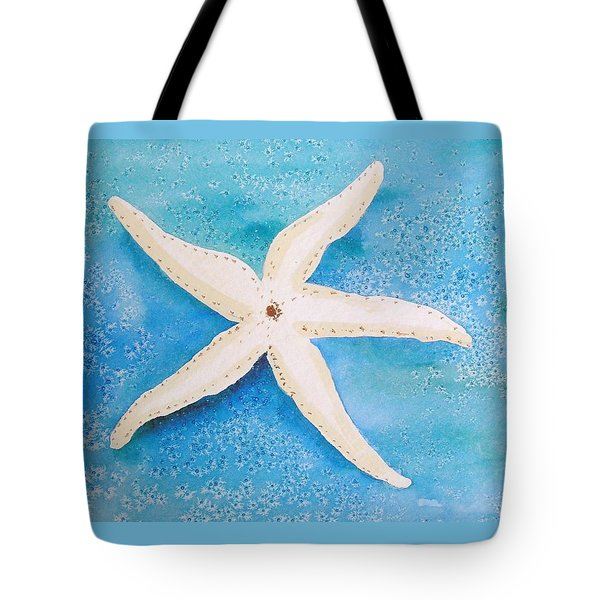 Tote Bag featuring the painting White Starfish by Patricia Piffath