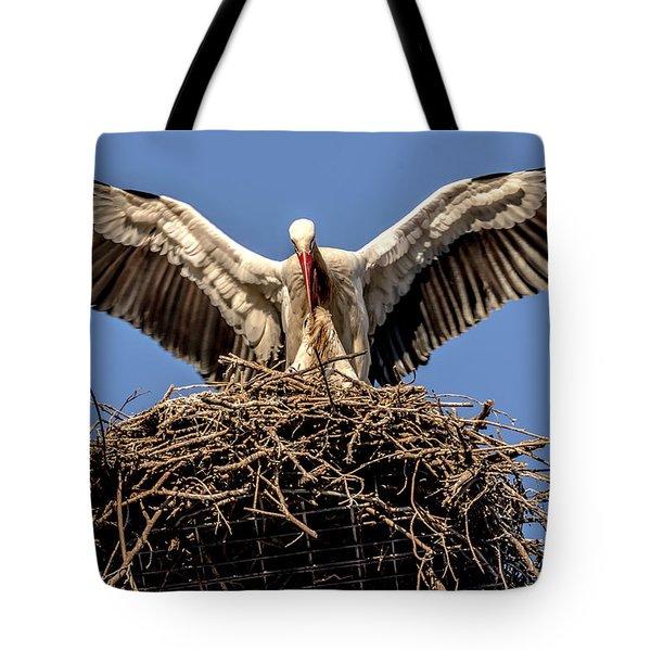 White Storks Of Fagagna 7 Tote Bag
