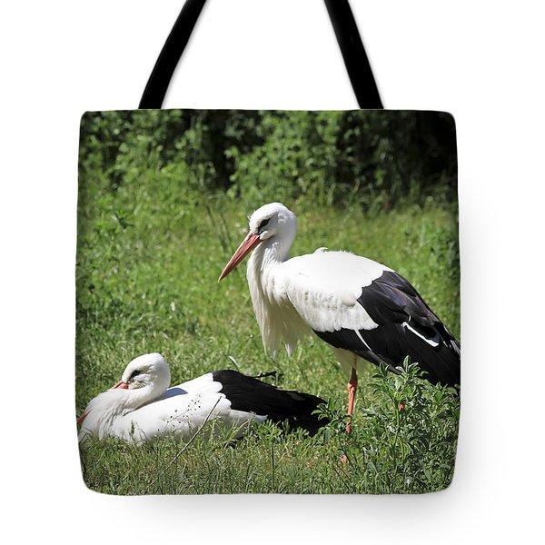 White Storks Tote Bag