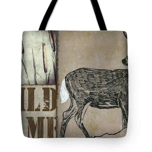 White Tail Deer Wild Game Rustic Cabin Tote Bag