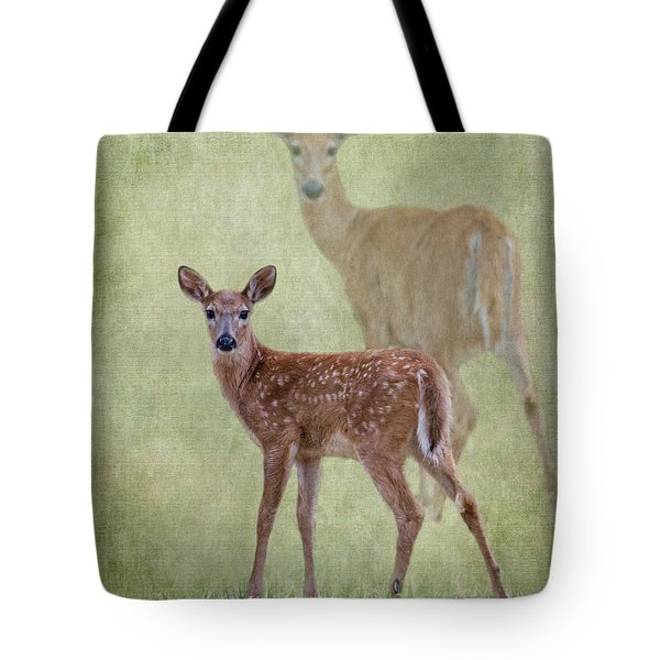White Tail Fawn Tote Bag