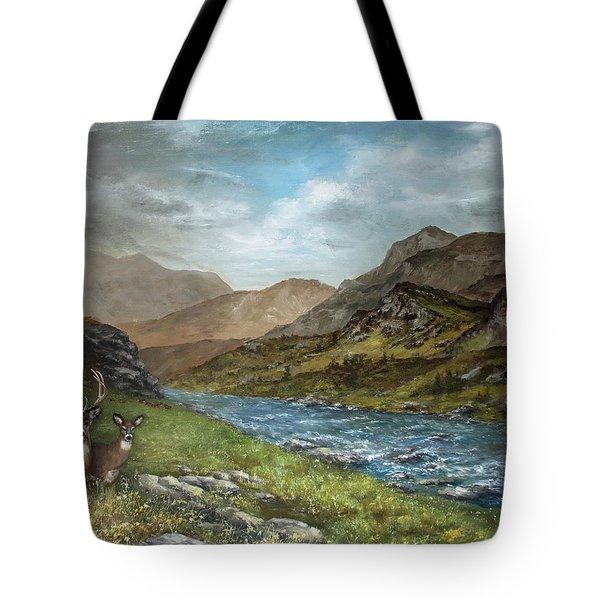 White Tail Meadow Tote Bag by David Jansen