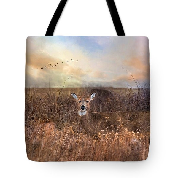 Tote Bag featuring the photograph White Tail by Robin-Lee Vieira