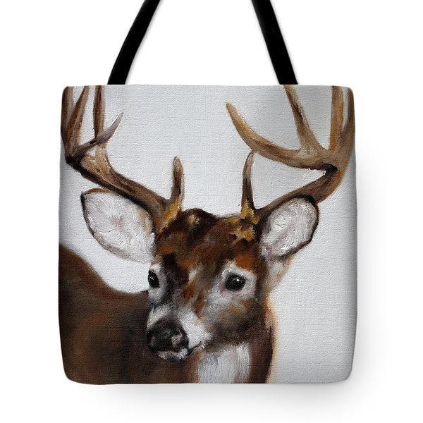 Tote Bag featuring the painting Whitetail Deer by Barbie Batson